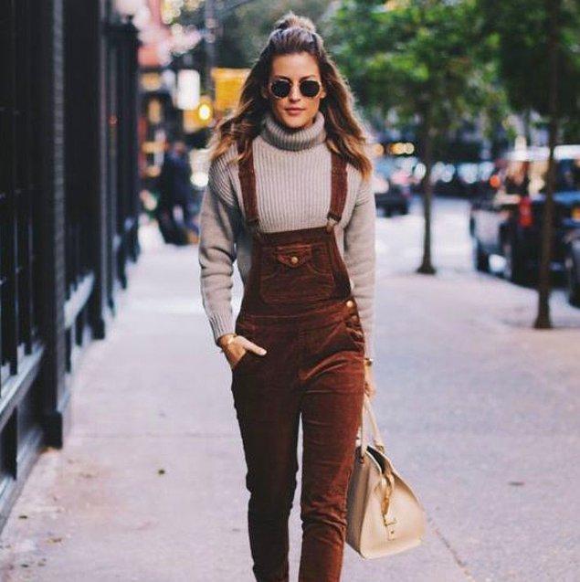 Seçtiğiniz fitilli kadife parçayla giyeceğiniz diğer parçanın arasında bir renk kontrastı veya ton geçişi olması her şeyin çözümü gibi duruyor.