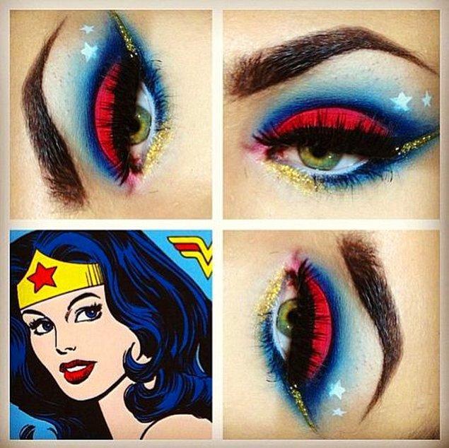 Peki, birkaç fırça darbesiyle gözlerinde Wonder Woman etkisi yaratmaya ne dersiniz?! ????