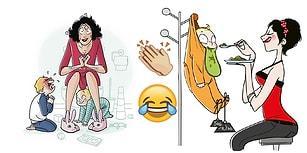 Dünyanın En Zor Mesleği Olan Anneliği En Dürüst ve Eğlenceli Şekilde Sergileyen İllüstrasyonlar