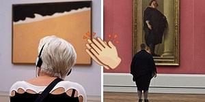 Sanat Eserleriyle Uyumlu Ziyaretçileri Yakalamak İçin Müzede Saatlerce Bekleyen Fotoğrafçı! 📸