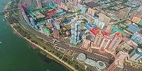 Dünyanın En Gizemli Ülkesi Kuzey Kore'nin Başkenti Havadan 360 Derece Olarak Görüntülendi