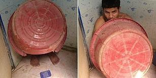 Uyuşturucu Baskınında Saklanma Konusundaki Üstün Hüneriyle Güldüren Taylandlı Kaçakçı!