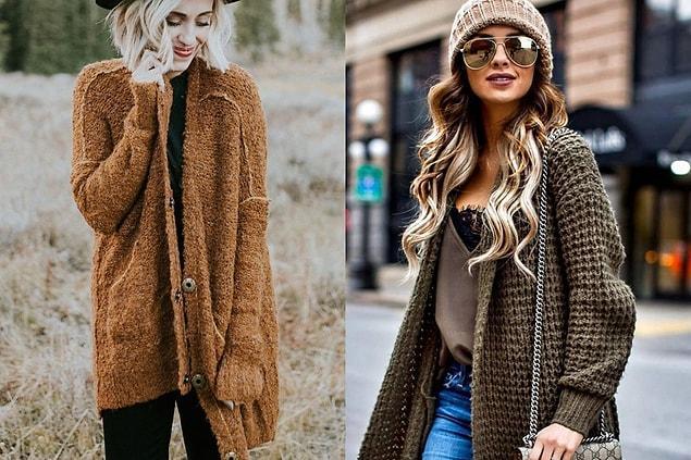 Hırkaların güzelliğinin berelerle bir ilgisi olmalı! Bere takmak da kış modasının en şahane parçalarından biri, hırkayla da kombinlerseniz cicili bicili bir görünüm yakalarsınız.