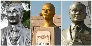 Çok Yazık Be Atam! Ülkenin Dört Bir Yanından Atatürk'e Uzak Akrabası Kadar Benzemeyen 11 Heykel