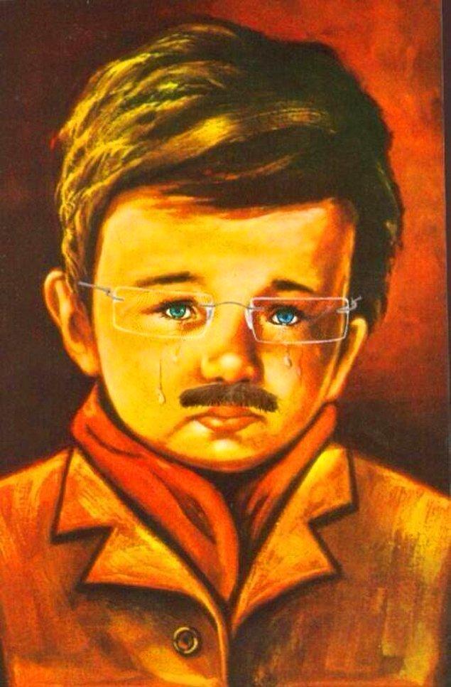 10. Gözlük ve bıyık takılmak suretiyle 50 yaş büyütülmüş Çiko