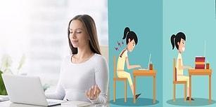 Masa Başında Çalışanları 5 Dakika Ara Verip Bu Egzersizleri Yapmaya Davet Ediyoruz!