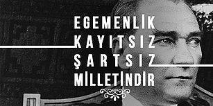 Mustafa Kemal Atatürk'ün Günümüze Işık Tutan 13 Sözünün Tipografik Tasarımı