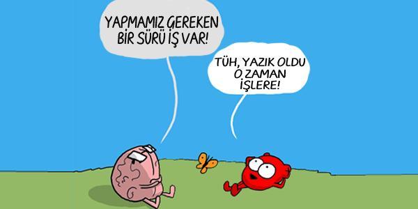 Kalp ve Beyin Arasındaki İkilemleri Espriyle Harmanlayan 13 Karikatür