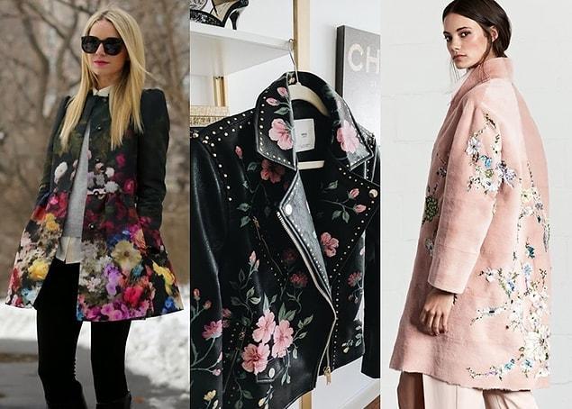 Çiçek desenli elbiselerinizi özellikle taba renkli botlarınızla, eteklerinizi de düz renk kazak veya trikolarla bütünleştirebilirsiniz.