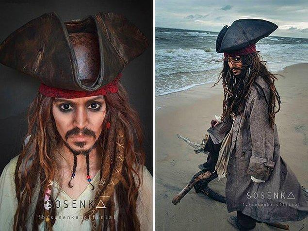 7. Jack Sparrow, Karayip Korsanları