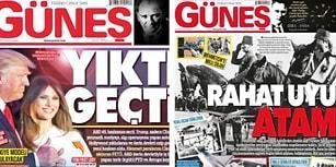 Bir Yıl İçindeki Büyük Değişim: Güneş Gazetesi Bu Yıl 10 Kasım'a Tam Sayfa Ayırdı!