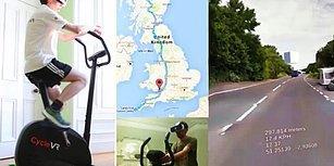 Sanal Gerçeklik ve Street View Sayesinde Evinden Çıkmadan Bisikletle İngiltere'yi Gezen Adam