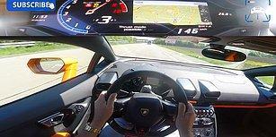 Lamborghini Huracan ile Otoyolda 342 Kilometre Hız Yapan Adamın Kafa Kamerasından O Anlar