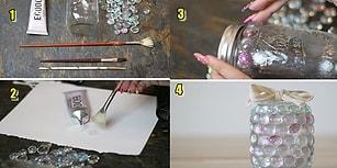 Boş Kavanozlarınızı Çöpe mi Atıyorsunuz? Atmayın! Onlardan Çok Hoş Dekorasyon Ürünleri Yaratabilirsiniz!