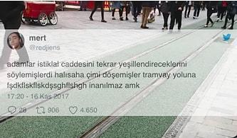 İstiklal Caddesi'nin Halı Sahaya Dönüşmesine Tepkisiz Kalamamış 13 Kişi
