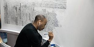 360 Derece Görüntülerle 'Yaşayan Kamera' Adamın New York'u Çizimi