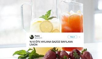 Duydunuz mu? Torba Yasayla Limonata, Gazoz, Soğuk Çay ve Meyve Suyuna ÖTV Geldi