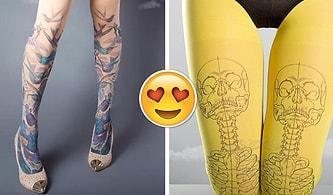 Dövme Sevip de Yaptırmaya Cesaret Edemeyenler İçin Tasarlanan Çok Şık 'Dövme Çoraplar'