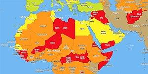 Seyahatçiler İçin En Tehlikeli ve Riskli Ülkeleri Gösteren Dünya Haritası Ortaya Çıktı