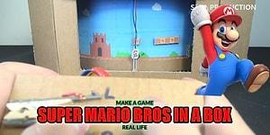 Kartondan, Düşük Maliyetli Super Mario Oyunu Yapmak İster misiniz?
