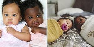 Farklı Tonda Tenlerinin Güzelliğiyle Kalbinizi Eritecek Tek Yumurta İkizleri Isabella ve Gabriella!
