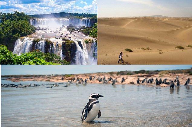 13. Her şey bir yana yapacağınız kısa seyahatlerle tek bir ülkede hem çöl, hem yağmur ormanları, hem de penguenleri görebilirsiniz Arjantin'de.
