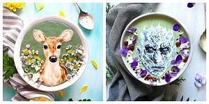 Smotthieler Üstünde Yemeye İçmeye Kıyamayacağınız Resimler Yapan Kadından Büyüleyici Kaseler!