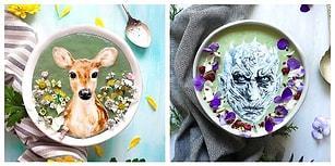 Smoothieler Üstünde Yemeye İçmeye Kıyamayacağınız Resimler Yapan Kadından Büyüleyici Kaseler!