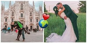 Birbirinden 13 Bin Kilometre Uzakta Yaşayan Gezgin Çift, Üç Senedir 'Ortada Buluşup' Hatıra Fotoğrafı Çektiriyor! 😍🌍