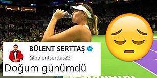Maria Sharapova Maçını Önden İzledi Diye Tepki Gösteren Kullanıcıya Bülent Serttaş'ın Duygulandıran Cevabı
