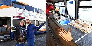 Kış Aylarında Evsizlere Sıcak Bir Yuva Sağlaması İçin İki Katlı Otobüsü Barınağa Çeviren Kadın