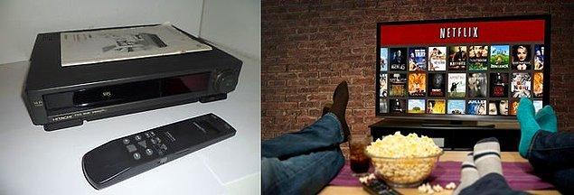 9. Çok eski olmasa da, ilk kez evde sinema keyfi için kullandığımız VHS kaset dönemlerinden, Netflix günlerine.