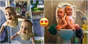 İmdat, Babamız Fotoğrafçı! Aile Albümündeki Fotoğraflarda Her Türlü Kılığa Giren Minnoş İkizler! 😍