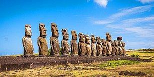 Paskalya Adasındaki Devasa Moai Taşları Görenleri Hayretler İçerisinde Bırakıyor!