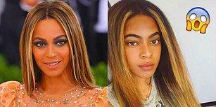 Hık Demiş Burnundan Düşmüş! Beyoncé'nin Tıpkısının Aynısı Gibi Göründüğü İçin Sokakta Yürüyemeyen Kadın!