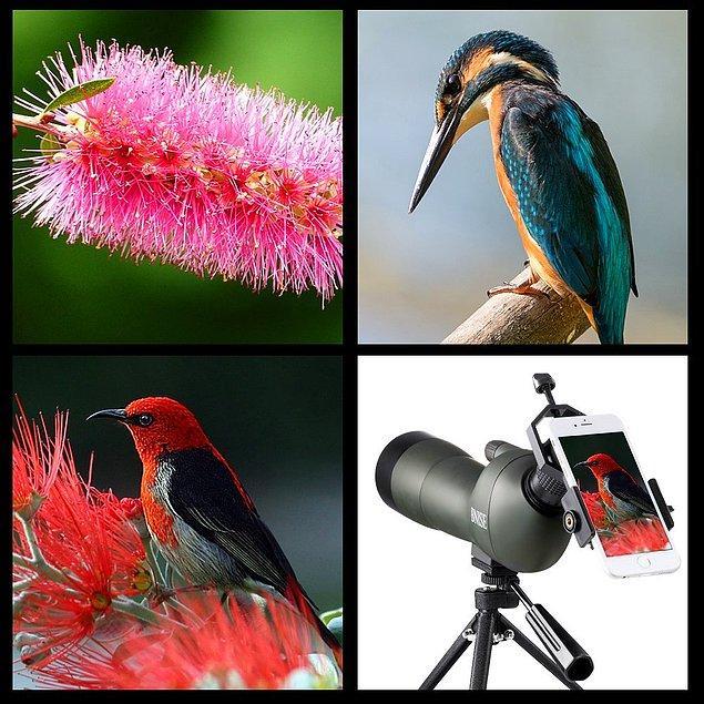 8. Doğayı, bitkileri, hayvanları gözlemeyi sevenler burada mı? Çünkü bu son dakika fırsatını da sizin için bulduk; Bnise® Spektiv Teleskop