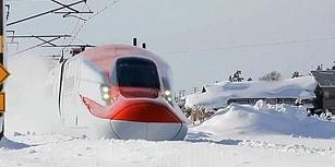 Japonya'nın Karlar Altında İlerleyen Süper Teknolojik Trenleri