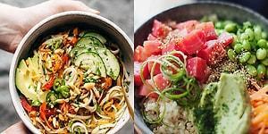Düşük Kalorisiyle Vücudunuzu, Tadıyla Damağınızı Mutlu Edecek 21 Bol Çeşitli Vejetaryen Salata Kasesi