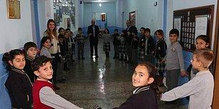 Eğitimde Mahmut Tuncer Etkisi: Erzurum'da İlkokul Öğrencileri Soğukla Mücadele İçin 'Halay' Çekiyor