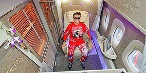 Casey Neistat'tan Emirates'in Yeni First Class Kabininde Mükemmel Uçuş Deneyimi