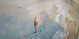 Adana'da Atatürk Büstüne Silahlı Saldırı Anı Güvenlik Kamerasında
