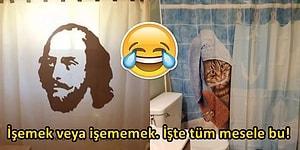 Banyosuna Ayrı Bir Hava Katmak İsteyenlerin Kullandığı Birbirinden İlginç Duş Perdeleri 😂
