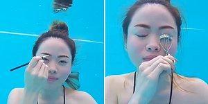 Suyun Altında Makyaj Nasıl Yapılır?