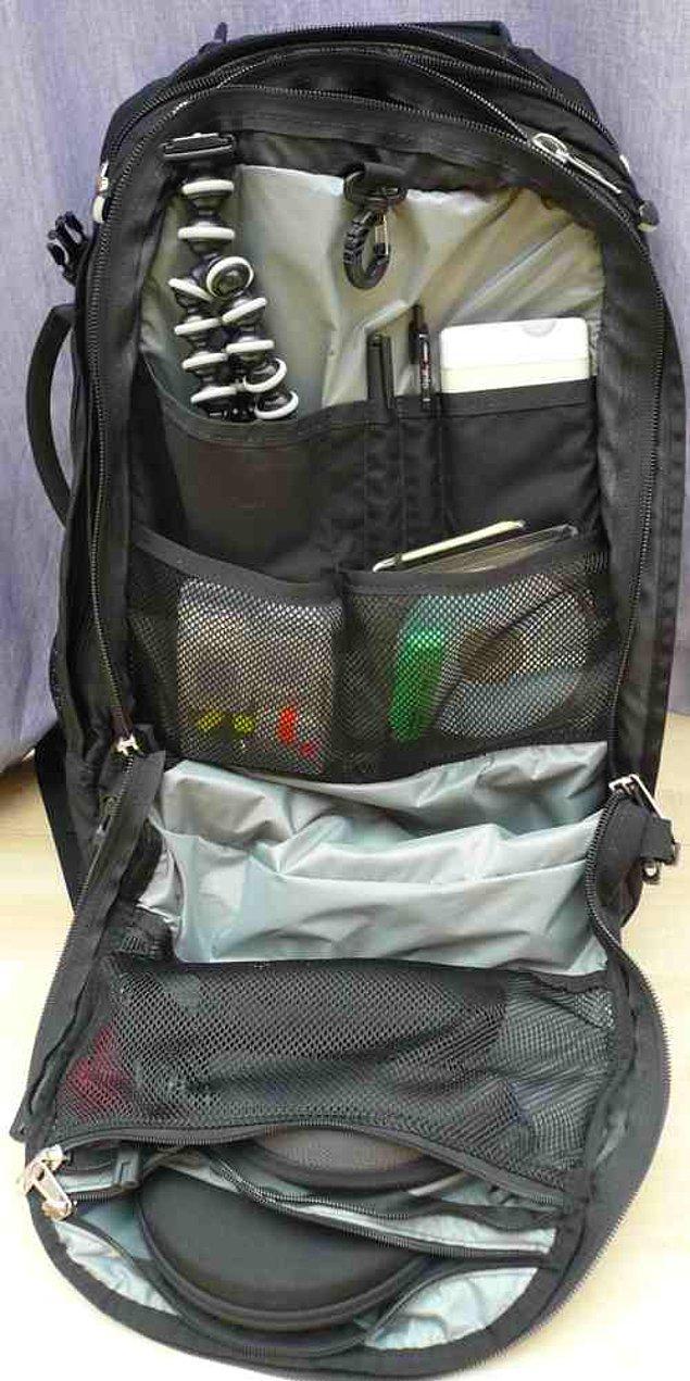 9. Bilgisayar, notlar kısacası her şeyin içine sığabileceği türden bir sırt çantası