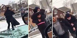 İyi İnsanlar İyi Var! Dondurucu Soğukta Sokakta Yaşayan Adama Montunu Veren Kadın