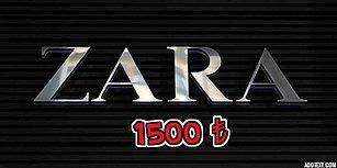 Sana Verdiğimiz 1500 TL'yi Aşmadan Zara'dan Alışveriş Yapabilecek misin?