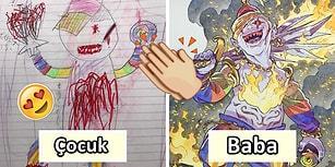Oğullarının Yaratıcı Fikirlerini İlham Kaynağı Haline Getiren Babadan Büyüleyici Anime Çizimleri