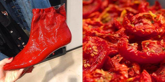 4. Deri Çizme - Kuru domates