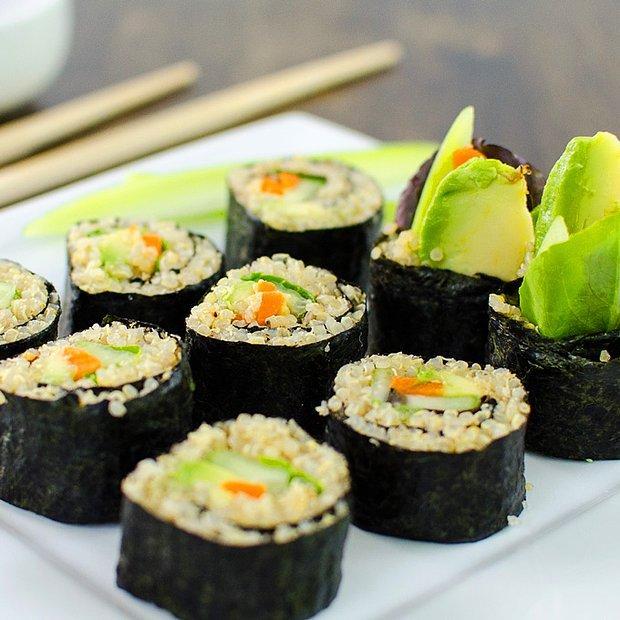 Sebzeli sushi