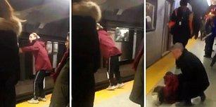 Alkollü Adamın Metronun Yaklaştığı Sırada Yaptığı Hareket Az Kalsın Sonu Oluyordu!